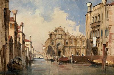 The Scuola Di San Marco - Venice Art Print by Jules-romain Joyant