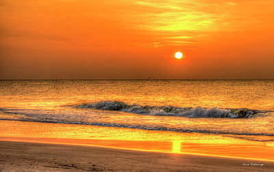 Photograph - The Sea 2 Sunrise Beach Wave Art by Reid Callaway