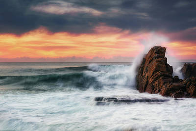 Photograph - The Sea Against The Rock by Mikel Martinez de Osaba