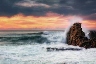 The Sea Against The Rock Art Print