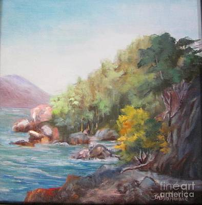 Painting - The Sea And Rocks by Barbara Haviland