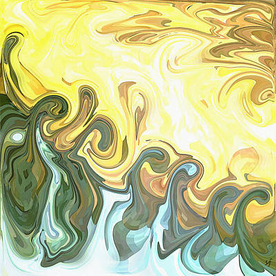 Digital Art - The Sea And The Waves Roaring by Shelli Fitzpatrick