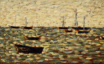 The Sea At Grandcamp Art Print