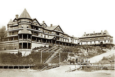 Photograph - the Sea Beach Hotel in Santa Cruz by California Views Archives Mr Pat Hathaway Archives