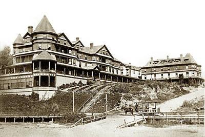 Photograph - the Sea Beach Hotel in Santa Cruz by California Views Mr Pat Hathaway Archives