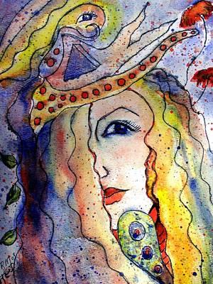 The Sea Becomes Her Art Print by Robin Monroe