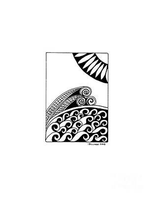 The Sea Art Print by Billinda Brandli DeVillez