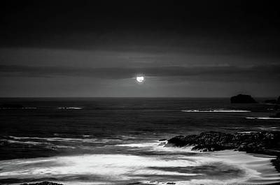 Photograph - The Sea By Night by Martina Fagan