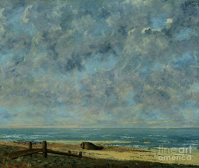 Gustave Courbet Painting - The Sea by Gustave Courbet