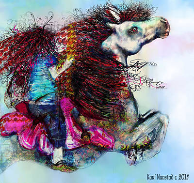 The Sea Horse Fairy Art Print by Kari Nanstad
