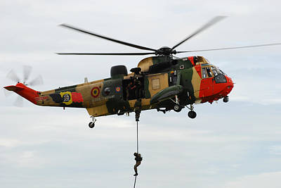 Foreign Military Photograph - The Sea King Helicopter Of The Belgian by Luc De Jaeger