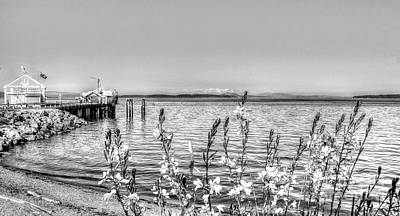 Dots And Lines Photograph - The Sea Wall Sees by Dorothy Hilde