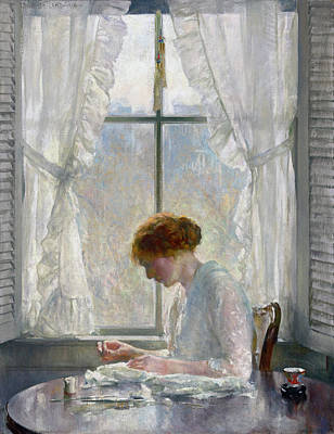 Painting - The Seamstress by Joseph Rodefer DeCamp