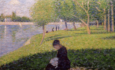 Seamstress Painting - The Seamstress Or Sunday At The Grande Jatte by Georges Pierre Seurat