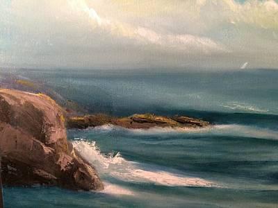 The Seas Of Azure Art Print by Joseph Snyder