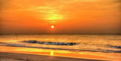 The Seashore 3 Sunrise Beach Wave Art Art Print