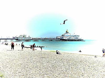 Photograph - The Seaside At Eastbourne Sussex by Dorothy Berry-Lound