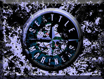 Edgar Home Mixed Media - The Seattle Mariners 1b by Brian Reaves