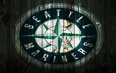 The Seattle Mariners 2b Art Print by Brian Reaves