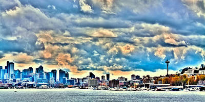Seattle Photograph - The Seattle Skyline by David Patterson