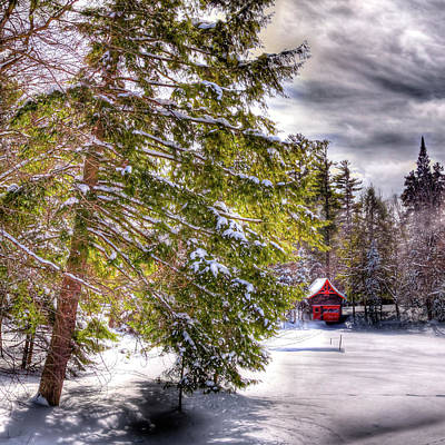 Photograph - The Secluded Boathouse by David Patterson