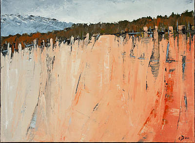 Painting - The Second Cliff Edge by Carolyn Doe