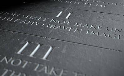 Grave Digital Art - The Second Commandment by Allan Swart