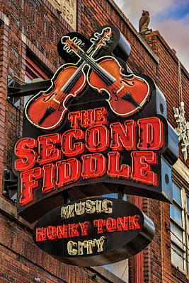 Art Print featuring the photograph The Second Fiddle Nashville by Stephen Stookey