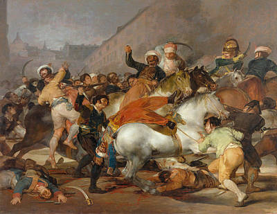 Battle Painting - The Second Of May 1808 In Madrid, The Charge Of The Mamelukes by Francisco Goya