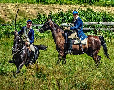 Photograph - The Second Regiment Light Dragoons 003 by Jeff Stallard