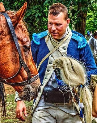Photograph - The Second Regiment Light Dragoons 005 by Jeff Stallard