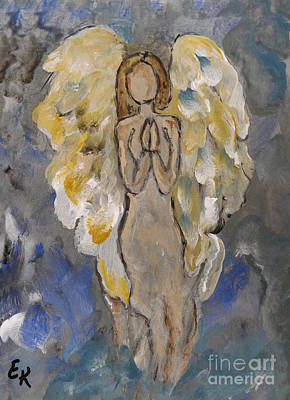 Painting - the Secret Angel by Ella Kaye Dickey