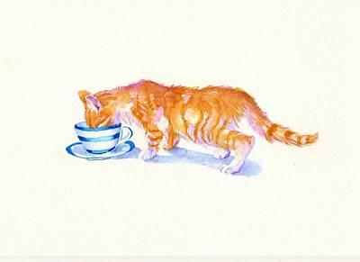 The Secret Drinker Art Print