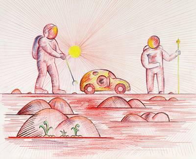 The Secret Garden Art Print by Daniel House