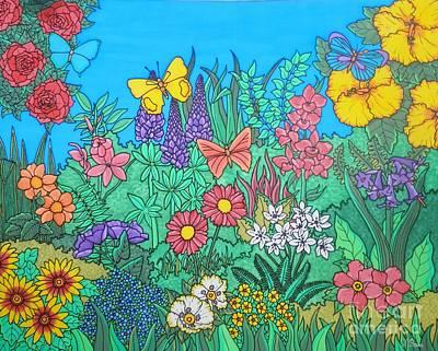 The Secret Garden Print by Joanne Oram