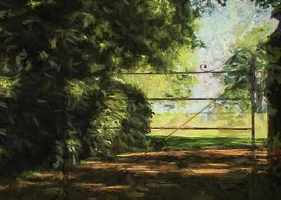 Digital Art - The Secret Gate by Sarah Vernon