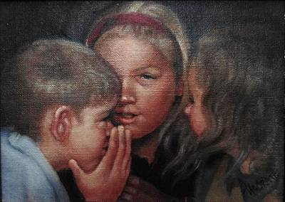 Painting - The Secret by Janet McGrath