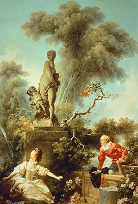Painting - The Secret Meeting by Jean-Honore Fragonard