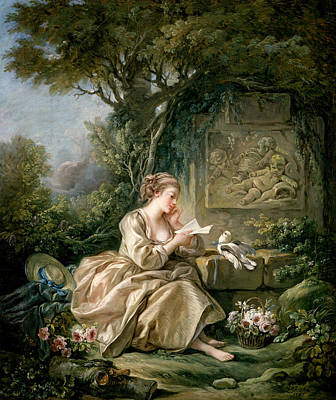 18th Century Painting - The Secret Message by Francois Boucher