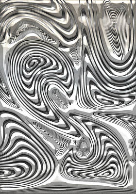Digital Art - The Secret Of Damascus Steel  by Serge Averbukh