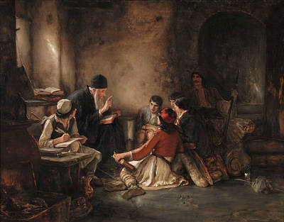 Painting - The Secret School by Nikolaos Gyzis