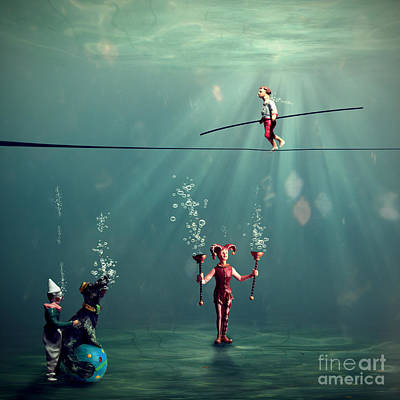 Surreal Digital Art Photograph - The Secret Venetian Circus by Martine Roch