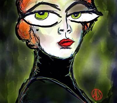 Beauty Mark Digital Art - The Secretary by Angie Snapp