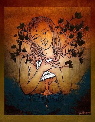 Jennifer Page Mixed Media - The Seed by Jennifer Page
