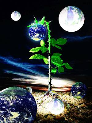 Gaia Mixed Media - The Seed Of Life by Animi Dawn