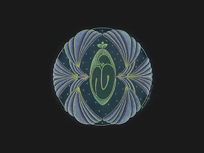 Anacaria Myrrha Drawing - The Seedling by Anacaria Myrrha