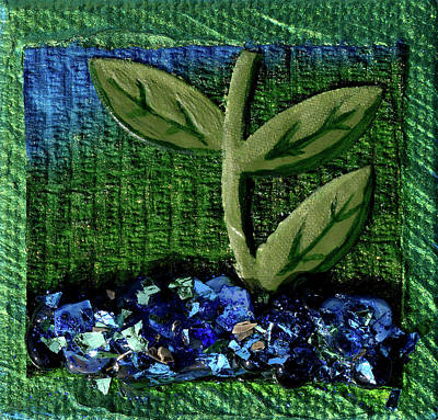 Mixed Media - The Seedling by Donna Blackhall