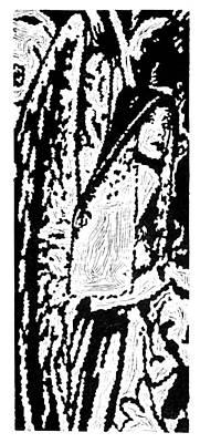 The Seeker --  Hand-pulled Linoleum Cut Art Print