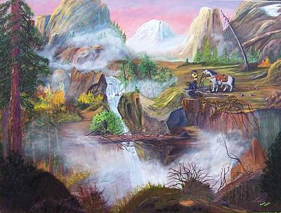 The Seekers At Saddle Rock Art Print by Myrna Walsh