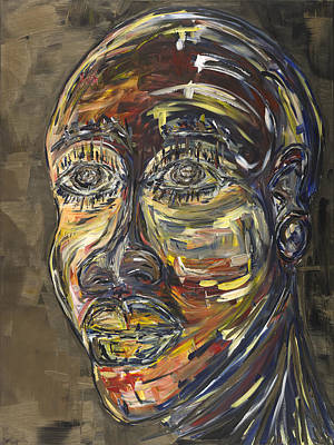 Portraits Painting - The Seer by Chakanaka Zinyemba